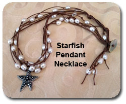 Pendant Necklace Starfish